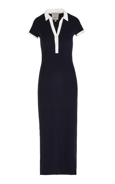 Giuliva Heritage Collection The Daphne Polo Dress Cotton Terrycloth Si in navy