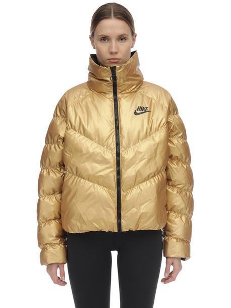 NIKE Nsw Shine Nylon Puffer Jacket in gold