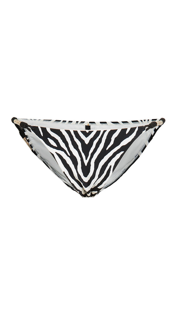 ViX Swimwear Fioella Black Trim Roll Bikini Bottoms in multi