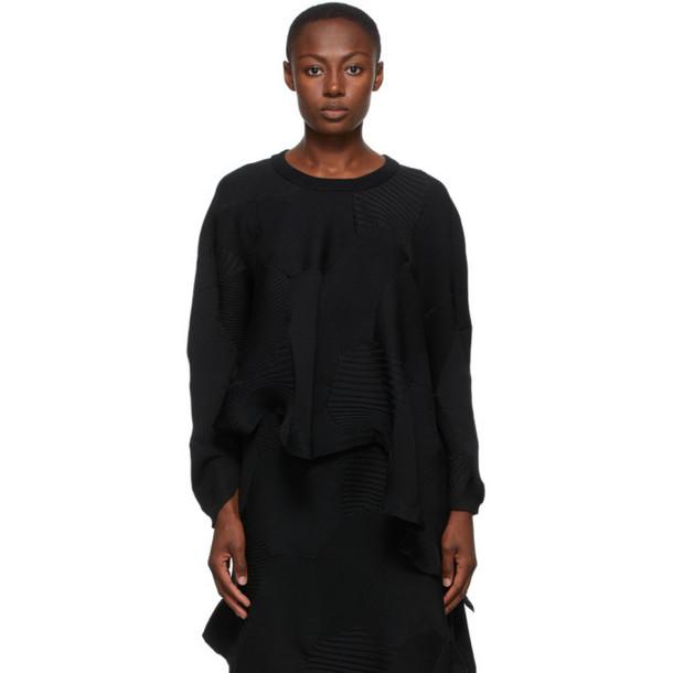 Issey Miyake Black Kone Kone Sweater