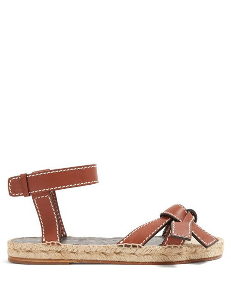 Loewe - Gate Knotted Leather Sandals - Womens - Tan