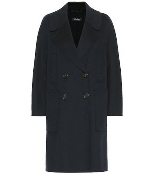S Max Mara Aranaci virgin wool coat in blue