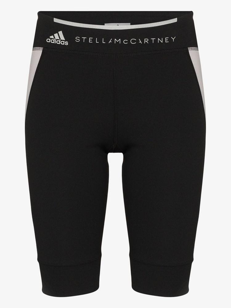 adidas X Stella McCartney contrast panel shorts in black