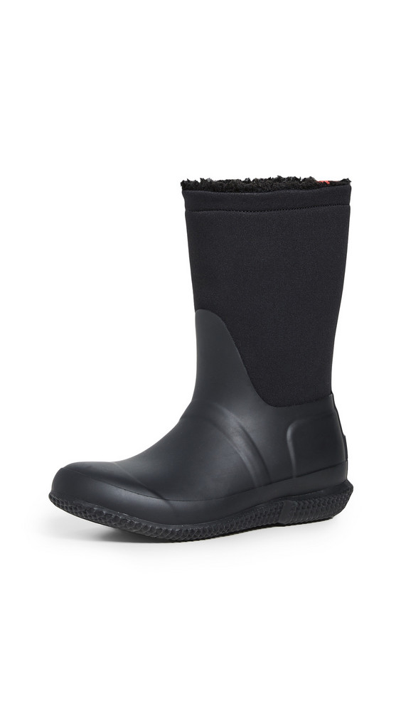 Hunter Boots Original Roll Top Sherpa Boots in black
