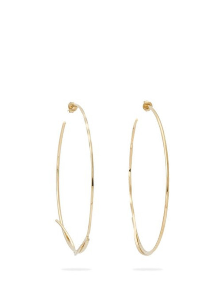 Completedworks - A Simple Twist Of Fate Gold Vermeil Hoop Earrings - Womens - Gold