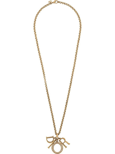 Christian Dior 1990s pre-owned Lady Dior necklace in gold