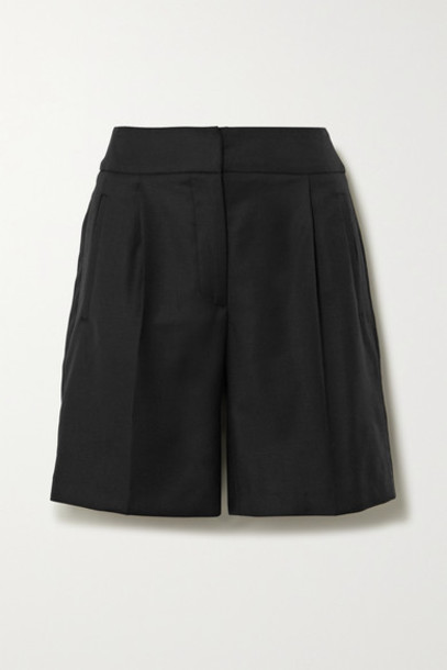 LOULOU STUDIO - Tureia Wool-twill Shorts - Black