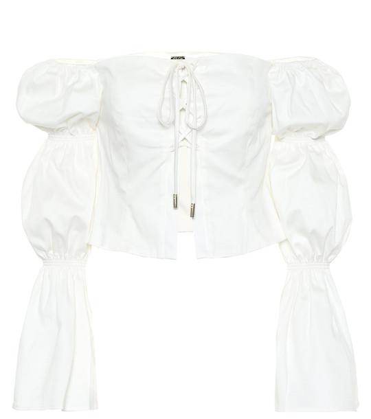 Cult Gaia Claire stretch-cotton top in white