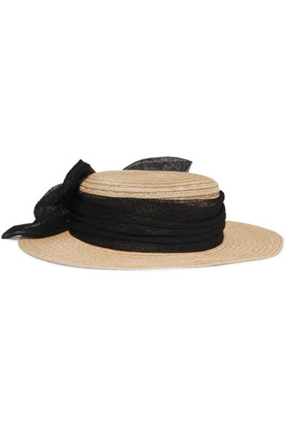 Eugenia Kim - Brigitte Hemp-blend Hat - Sand