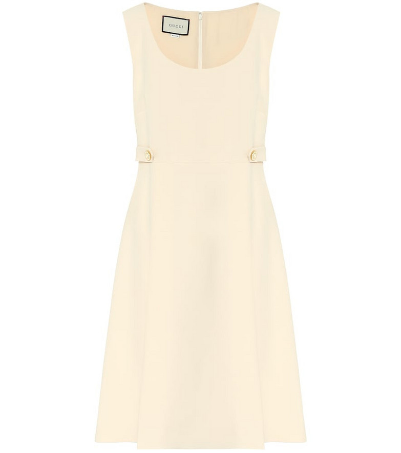 Gucci Silk and wool cady minidress in white