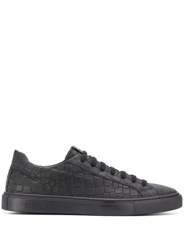 Hide&Jack crocodile low-top sneakers in black