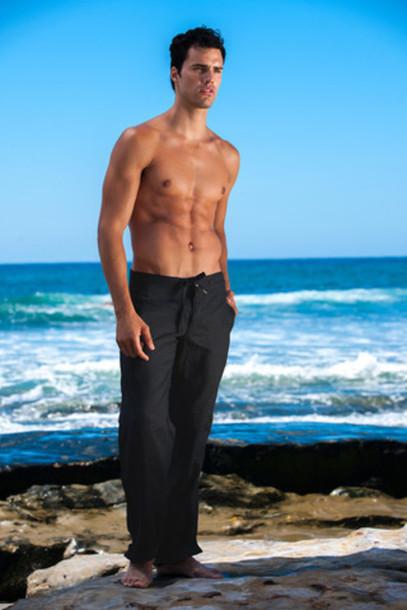 pants sauvage sauvage activewear black linen pants menswear bikiniluxe
