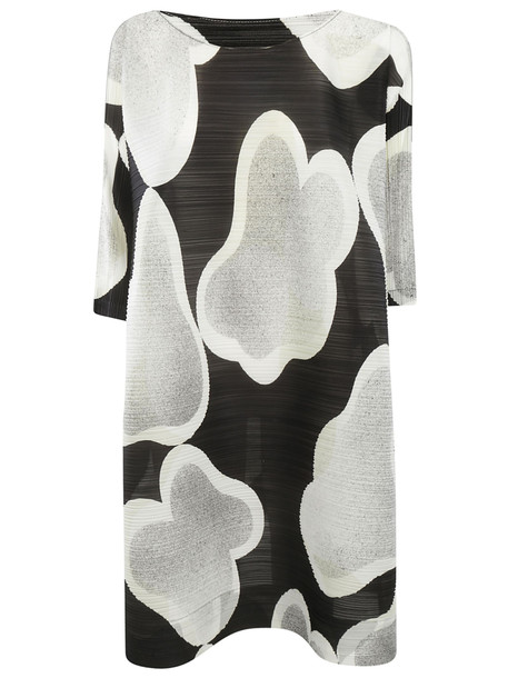 Issey Miyake Printed Dress in black / white