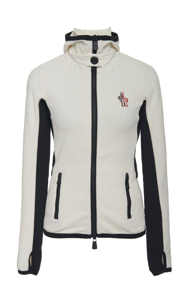 Moncler Grenoble Quilted Shell Ski Jacket in white