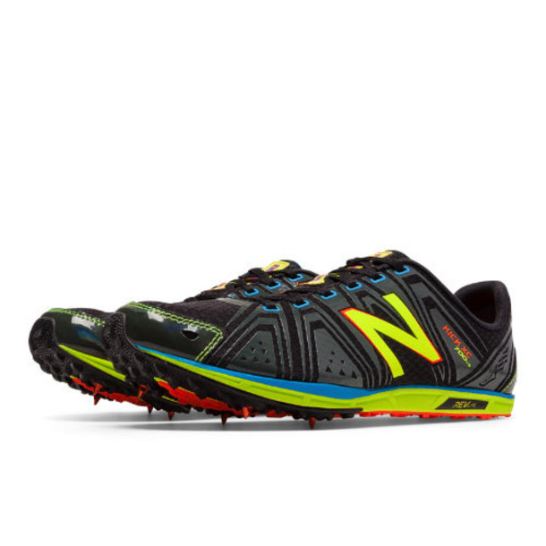 New Balance XC700v3 Spike Men's Cross Country Shoes - Black/Yellow (MXC700GS)