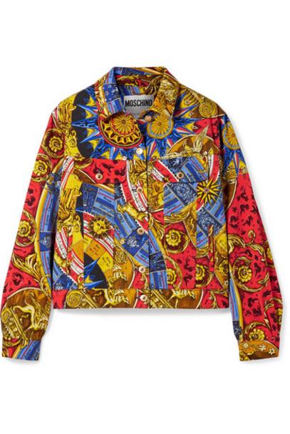 Moschino - Printed Denim Jacket - Red