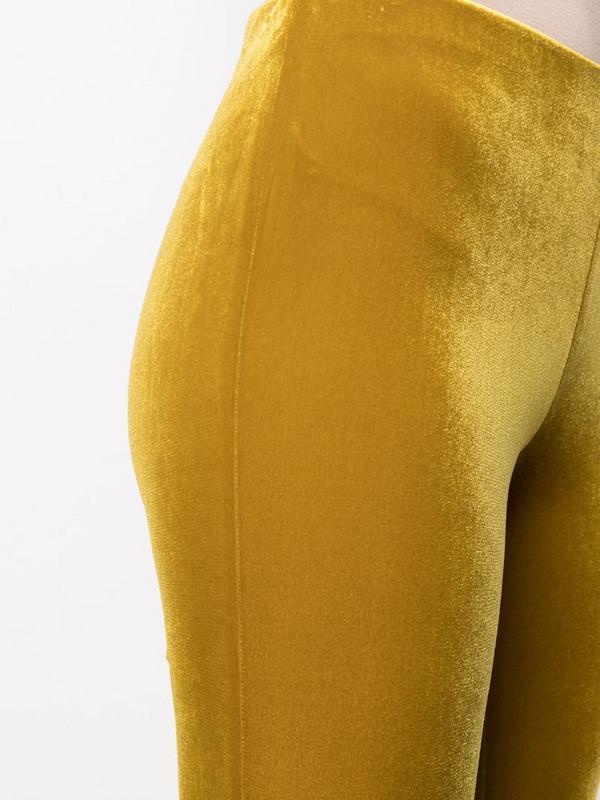 Antonella Rizza flared velvet trousers in yellow