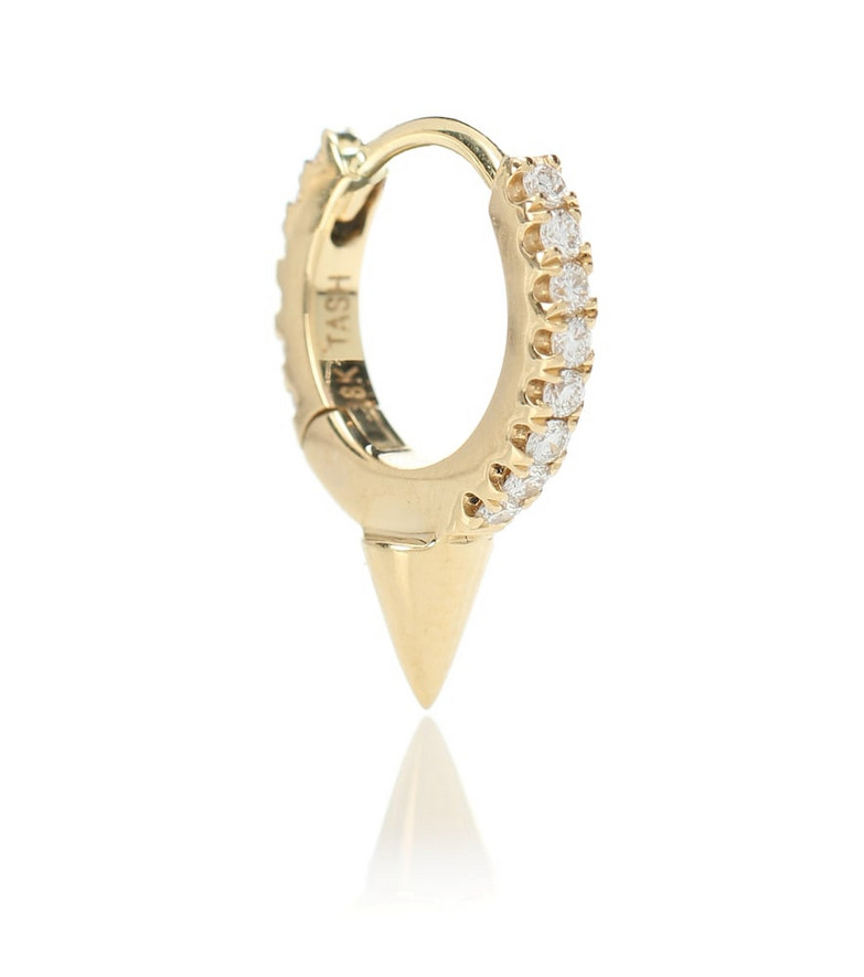 Maria Tash Single Spike Clicker 14kt gold and diamond earring