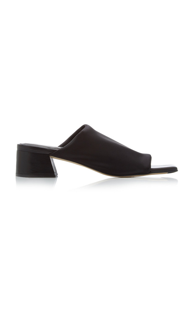 Miista Caterina Lycra Heeled Slide in black