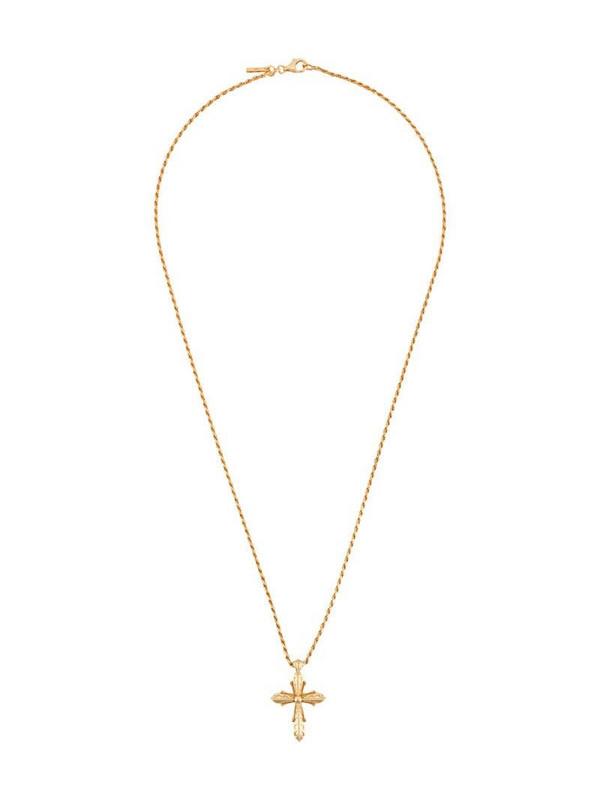 Emanuele Bicocchi cross pendant necklace in gold