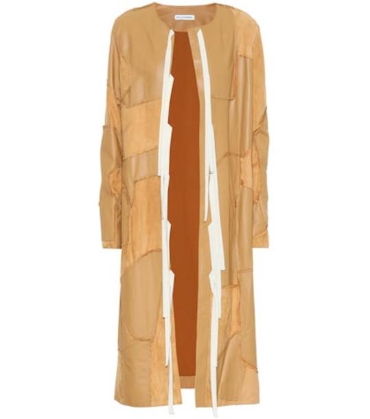 Altuzarra Benvenuto leather coat in beige