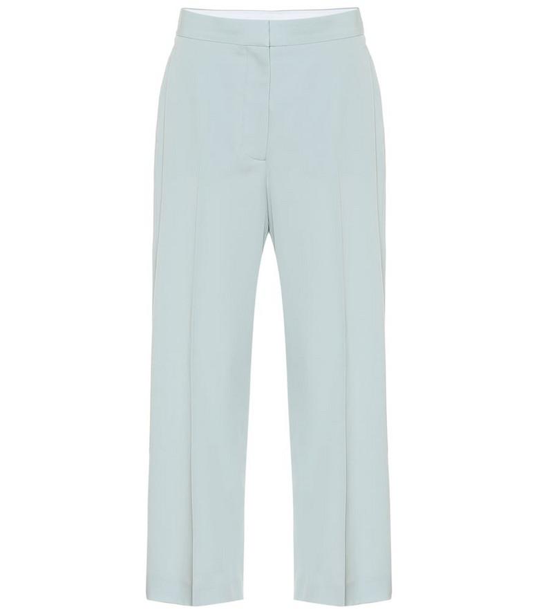 Stella McCartney High-rise straight pants in blue