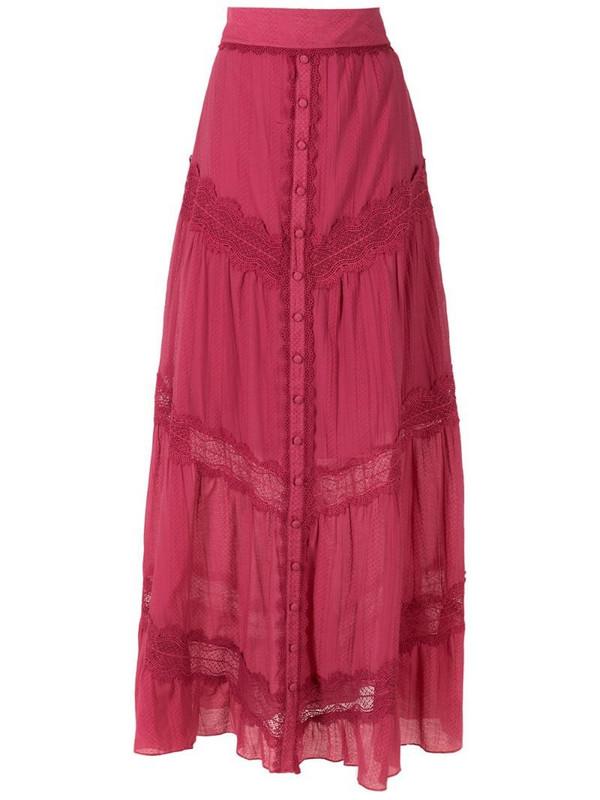 Martha Medeiros Betina long skirt in red
