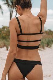 swimwear,two piece mafia,cheeky bikini,black bikini bottoms,ribbed bikini