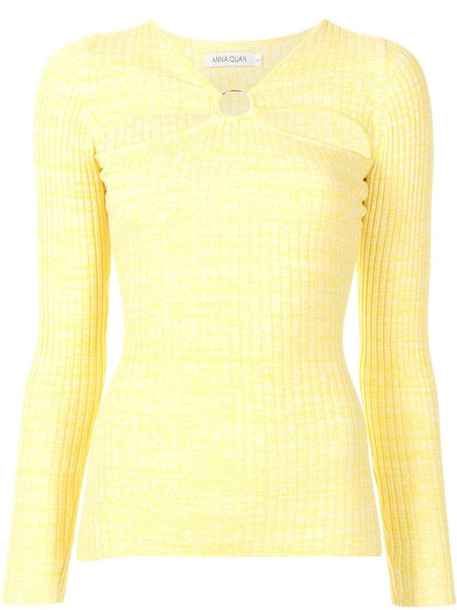 Anna Quan Lalia top in yellow