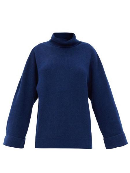 A.P.C. A.P.C. - Big Roll-neck Wool-blend Sweater - Womens - Navy