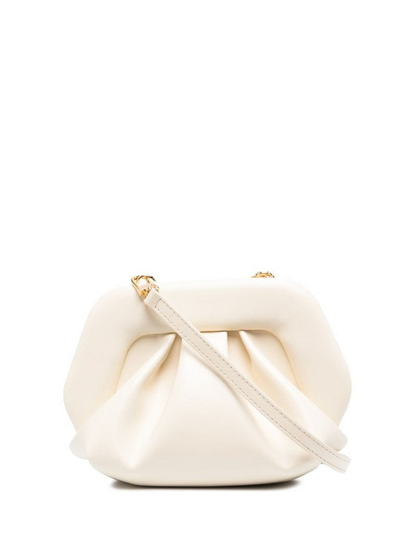 Themoirè Gea gathered shoulder bag in neutrals