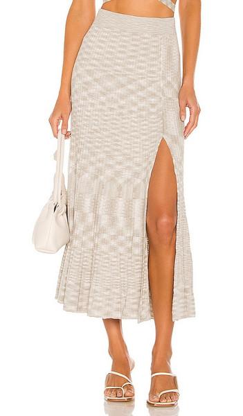 Hansen + Gretel Hansen + Gretel Corbin Skirt in Light Grey in natural