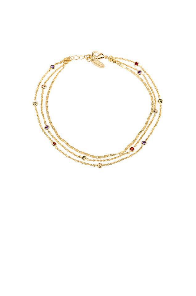 Ettika Anklet in gold / metallic