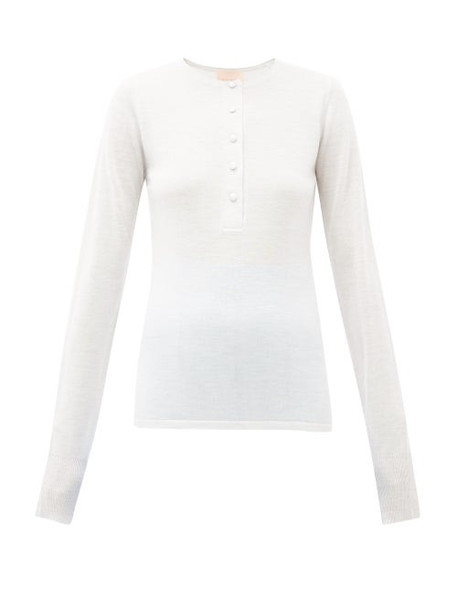 Roksanda - Rishi Merino-wool Top - Womens - Grey