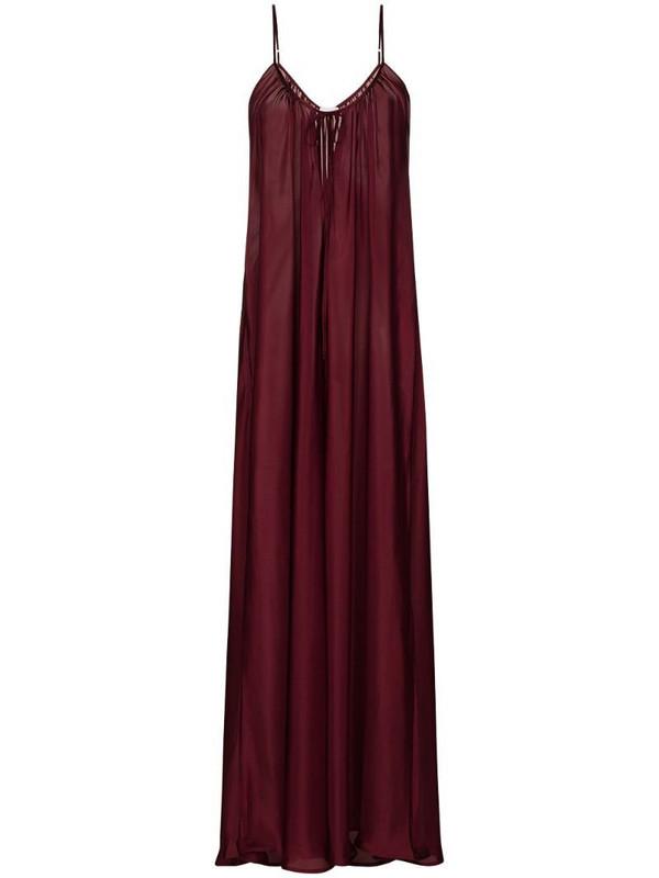 Pour Les Femmes Paris maxi dress in purple