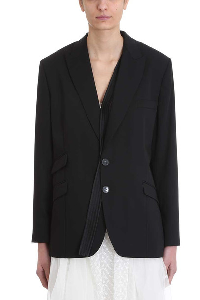 Stella McCartney Black Silk Blazer