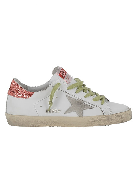 Golden Goose White/coral Leather Sneakers