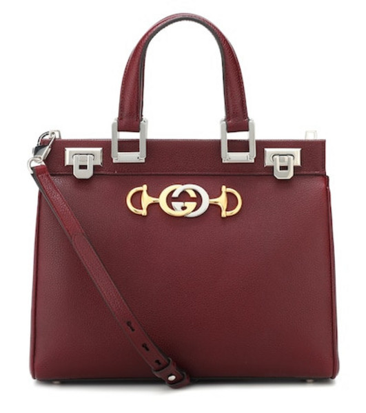 Gucci Small Zumi leather tote in red