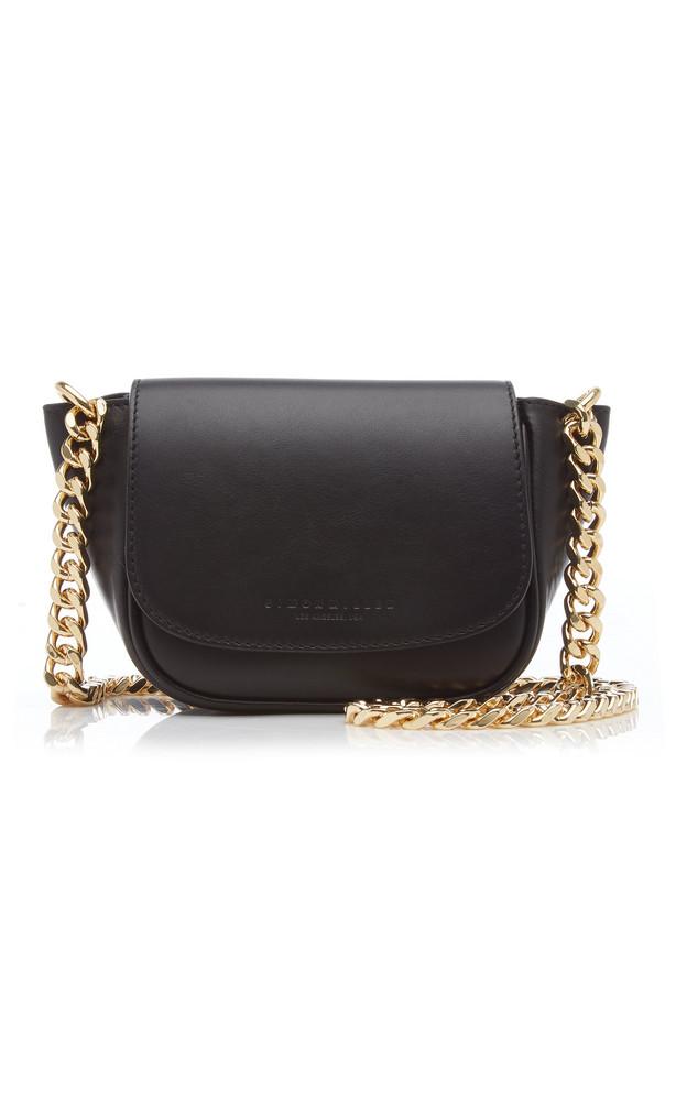 Simon Miller Bend Mini Leather Crossbody Bag in black