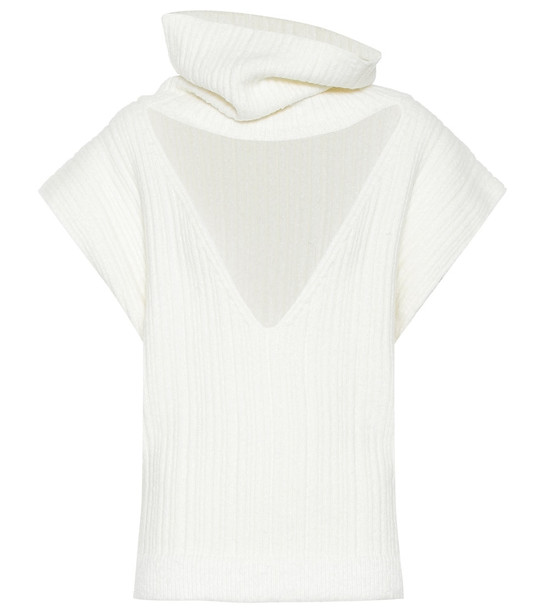 Jacquemus La Maille Aube cotton-blend sweater in white