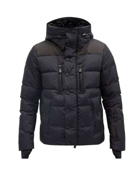 Moncler Grenoble - Rodenberg Hooded Quilted Down Coat - Mens - Navy