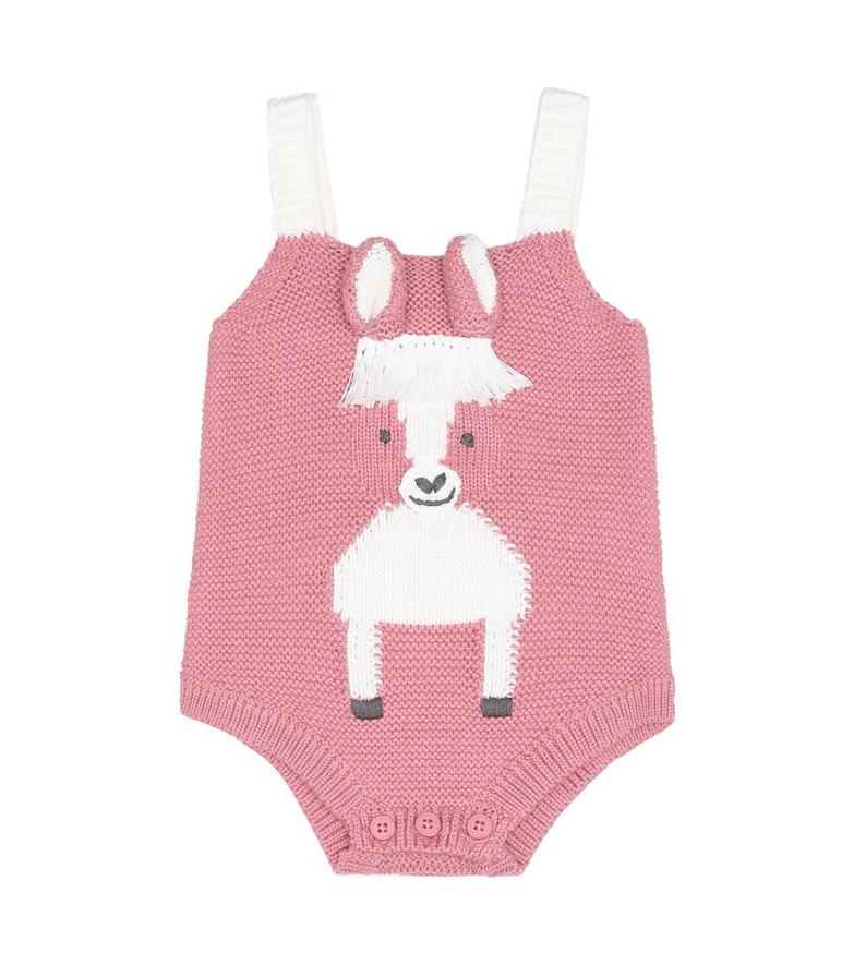 Stella McCartney Kids Baby cotton and wool bodysuit in pink