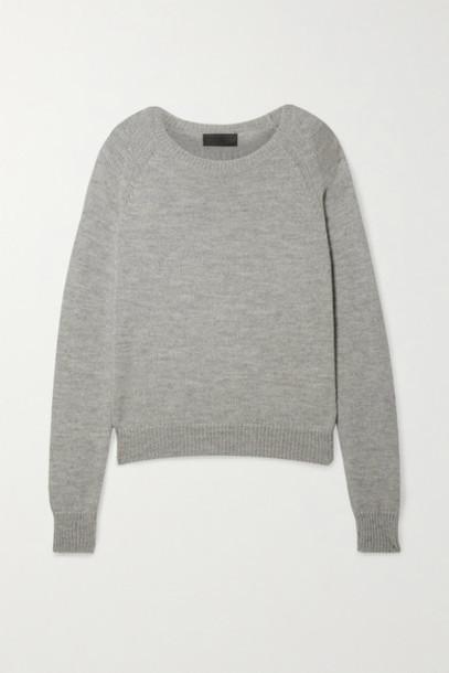 Nili Lotan - Vesey Merino Wool And Alpaca-blend Sweater - Gray