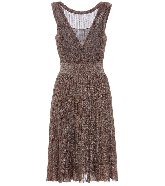 Missoni Metallic knit dress in gold