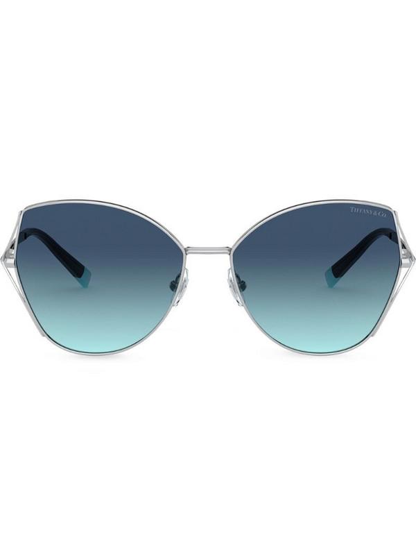 Tiffany & Co Eyewear Butterfly cat-eye frame sunglasses in silver