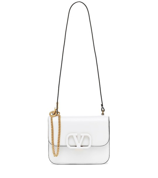 Valentino Garavani VSLING Small leather shoulder bag in white
