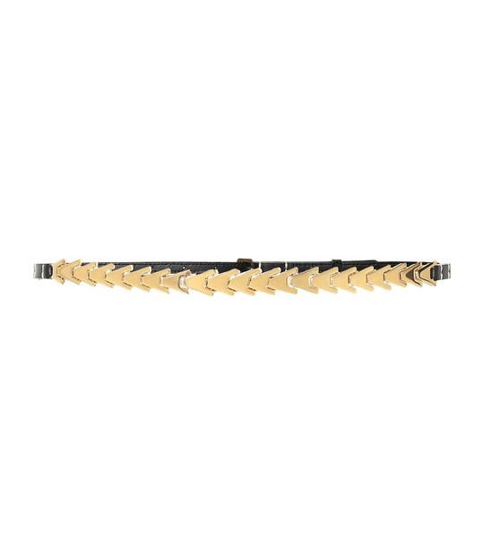Altuzarra Avalon leather and brass belt in black