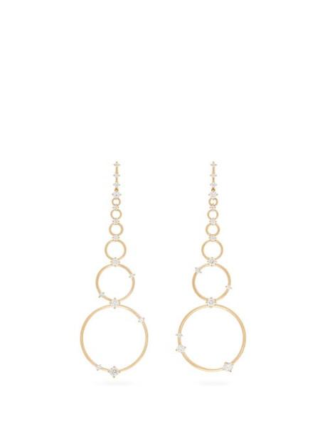 Fernando Jorge - Aerial Loops Diamond & 18kt Gold Drop Earrings - Womens - Gold
