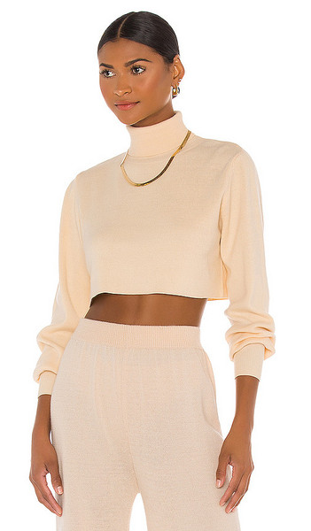 Callahan X REVOLVE Cropped Turtleneck in Cream in white