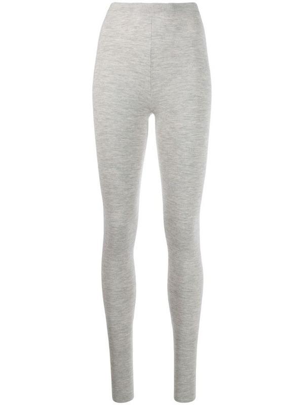 N.Peal stretch fit leggings in grey